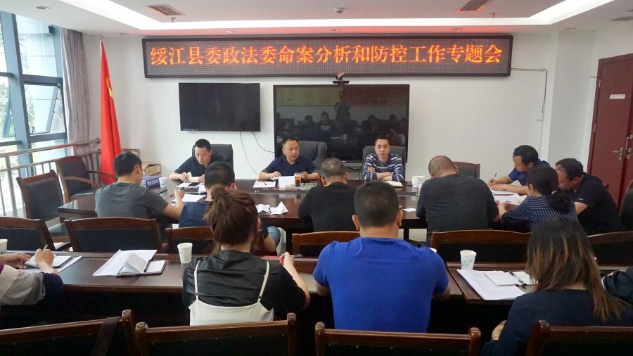 绥江县委政法委召开命案分析和防控工作专题会